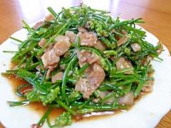 花ニラと豚肉の炒め物