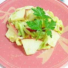 キャベツと林檎の炒め物