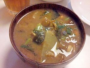大根の葉っぱいり味噌汁