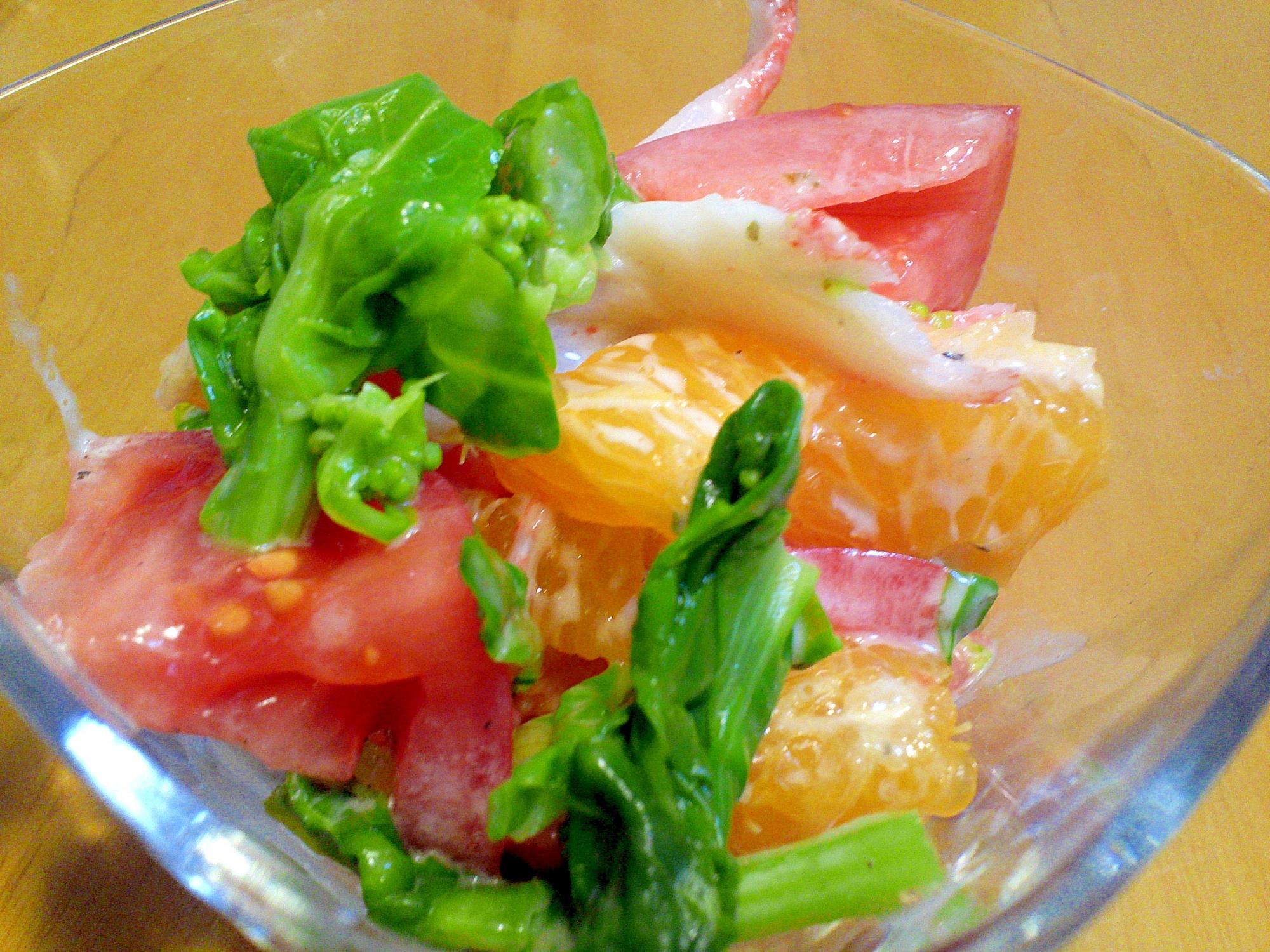 菜の花のビタミンカラー!サラダ