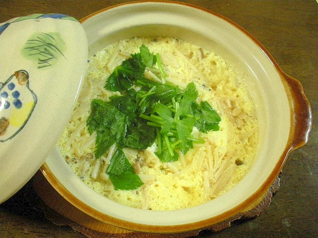 ☆土鍋で!キノコと豆腐の茶碗蒸し風☆