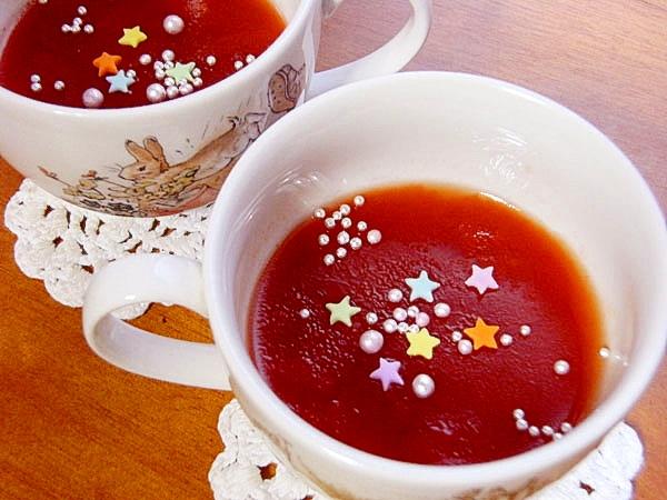 簡単でヘルシー♪バレンタインのトマトゼリー(缶詰)