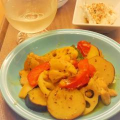 秋野菜と鶏肉のハーブソテー