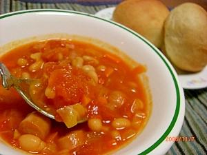 具沢山♪白いんげん豆のトロトロスープ