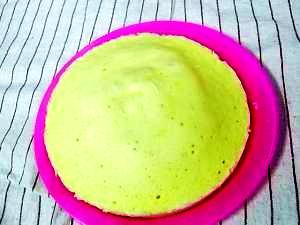 シリコンスチーマーで★レンチン2分の卵なしケーキ
