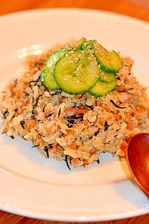 栄養満点!納豆とひじきで風邪をふっとばせー炒飯