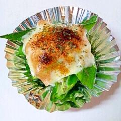 オクラのカレーチーズ焼き