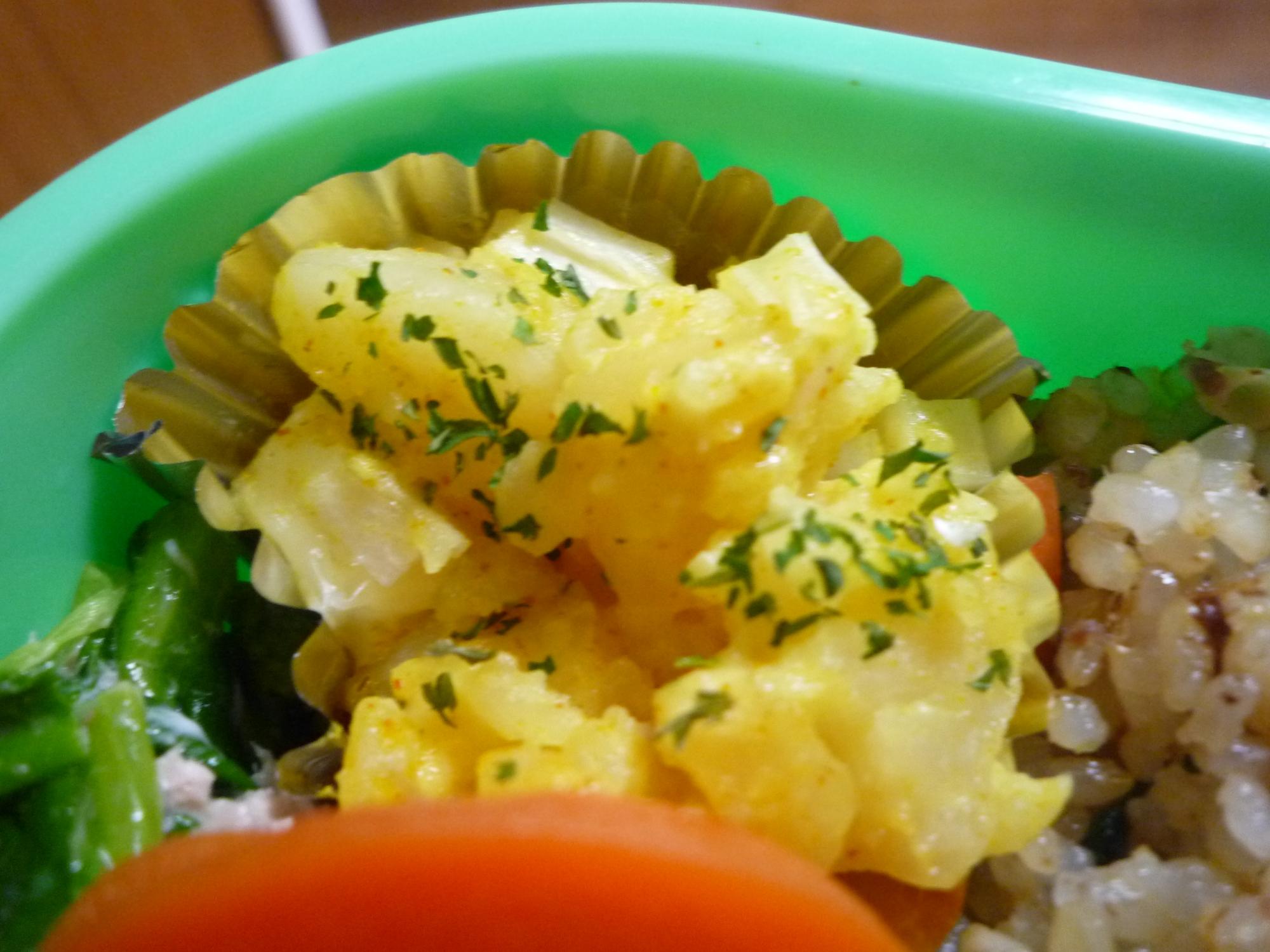 お弁当のおかずに☆カレーポテトサラダ