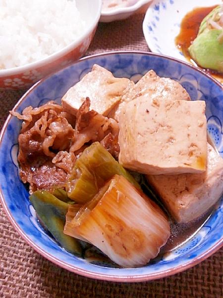 2. すき焼き風肉豆腐