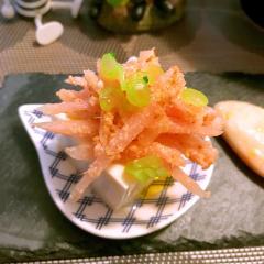 甘酢生姜と大根茎のシャキシャキ冷奴