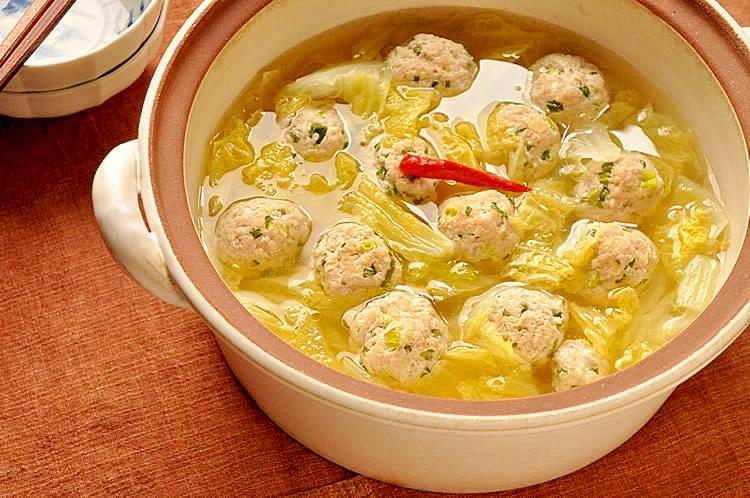 白菜の肉だんご鍋 レシピ・作り方