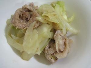 ほんのり辛い『キャベツと豚肉のカレー炒め煮』