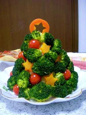パーティーにピッタリ!クリスマスツリーサラダ!