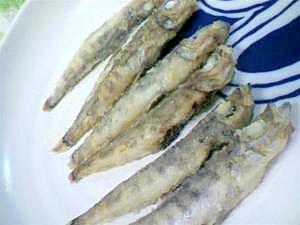 小魚の丸ぼしオリーブオイルソテー