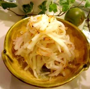 大根と桜海老の酢の物
