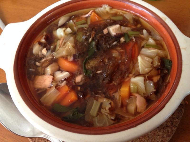 もずくと野菜の和風スープ