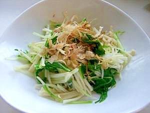 水菜とえのきの、しゃきしゃきお浸し レシピ・作り方 by ...
