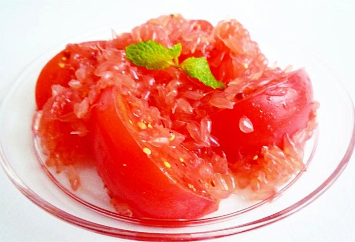 ルビーグレープフルーツとトマトの美肌リコピンサラダ