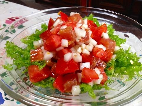 トマトまぐろと蕪のピクルス