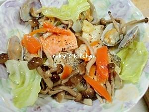 鱈とサーモンのアクアパッツァ我が家流