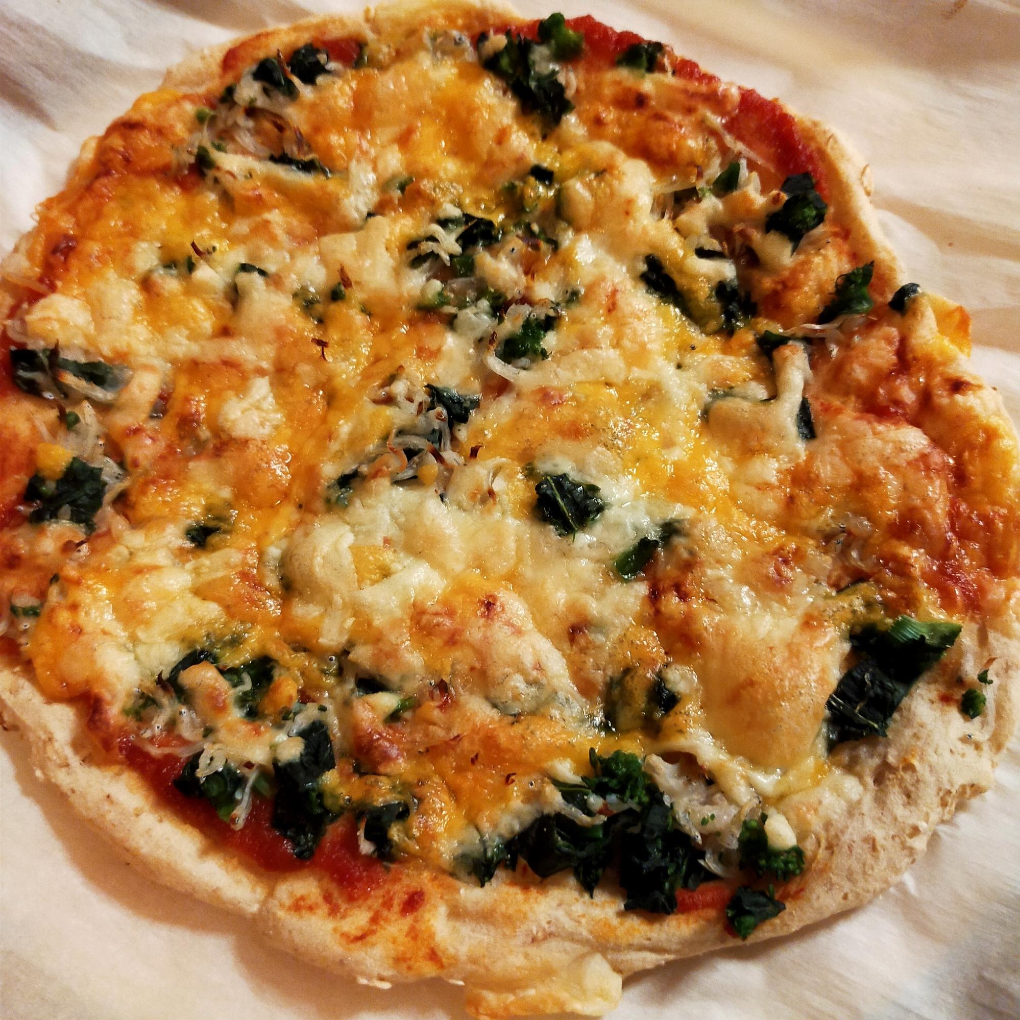 オートミールしらすピザ