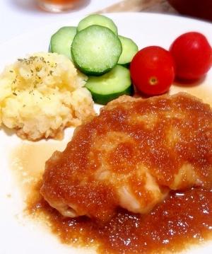 玉ねぎ ソース 鶏肉