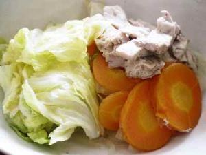 加熱用マグロと白菜で節約メニュー