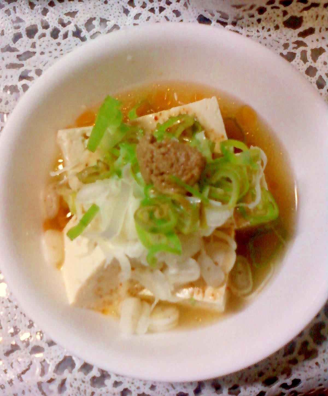 ☆*:・☆豆腐と長ネギのピリ辛スープ☆*:・☆