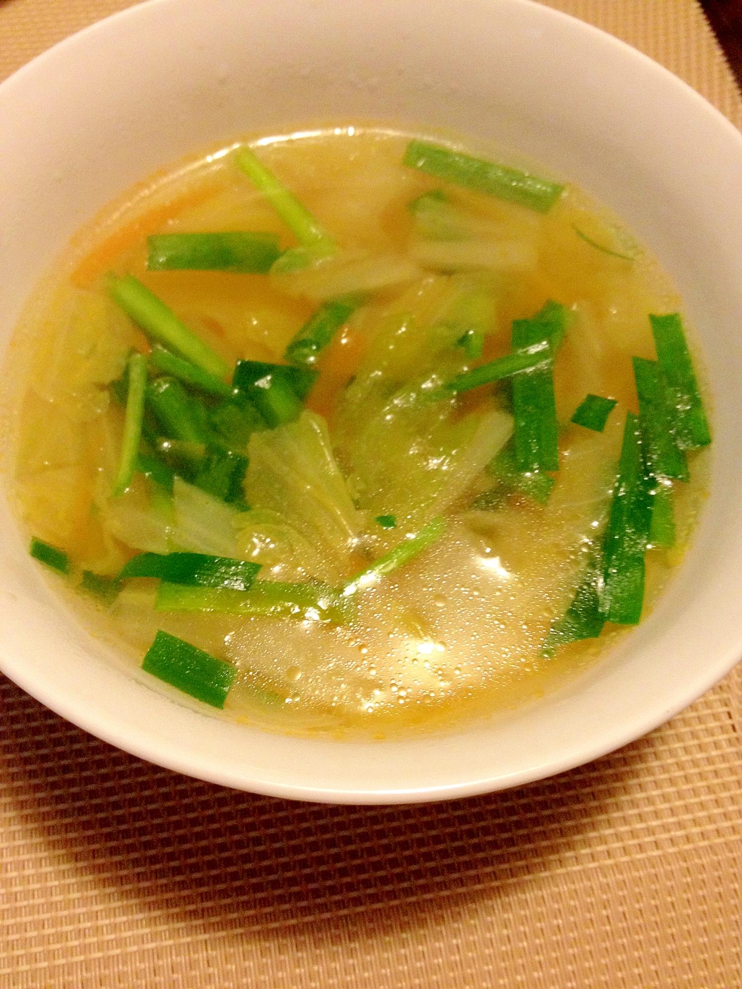 6. 鶏ガラで!簡単野菜スープ