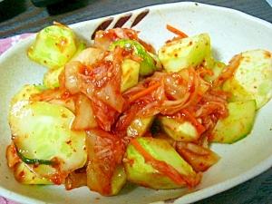 副菜に(/・ω・)/☆胡瓜のキムチ和え