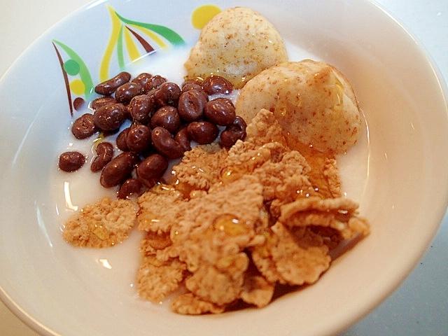 マァムとフレークと麦チョコのカルピス香るヨーグルト