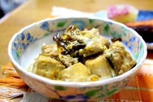 豆腐と舞茸のすき焼き風卵とじ