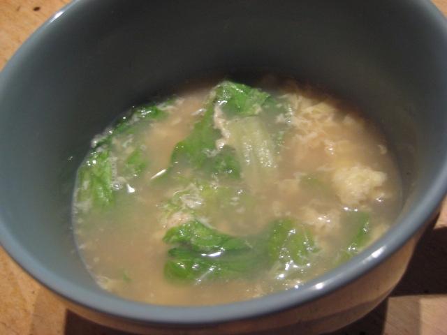 超簡単★卵とレタスのスープ