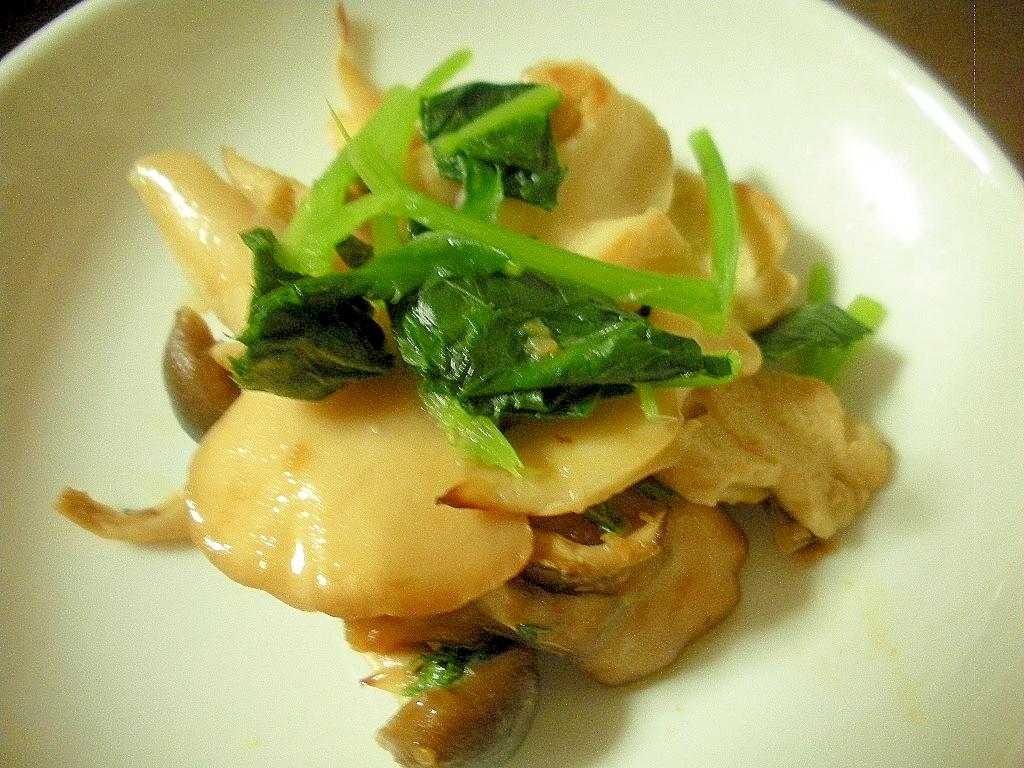 マイタケとみつ葉の生姜中華風味♪