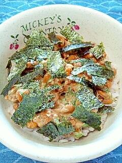 納豆の食べ方-オイルサーディン♪