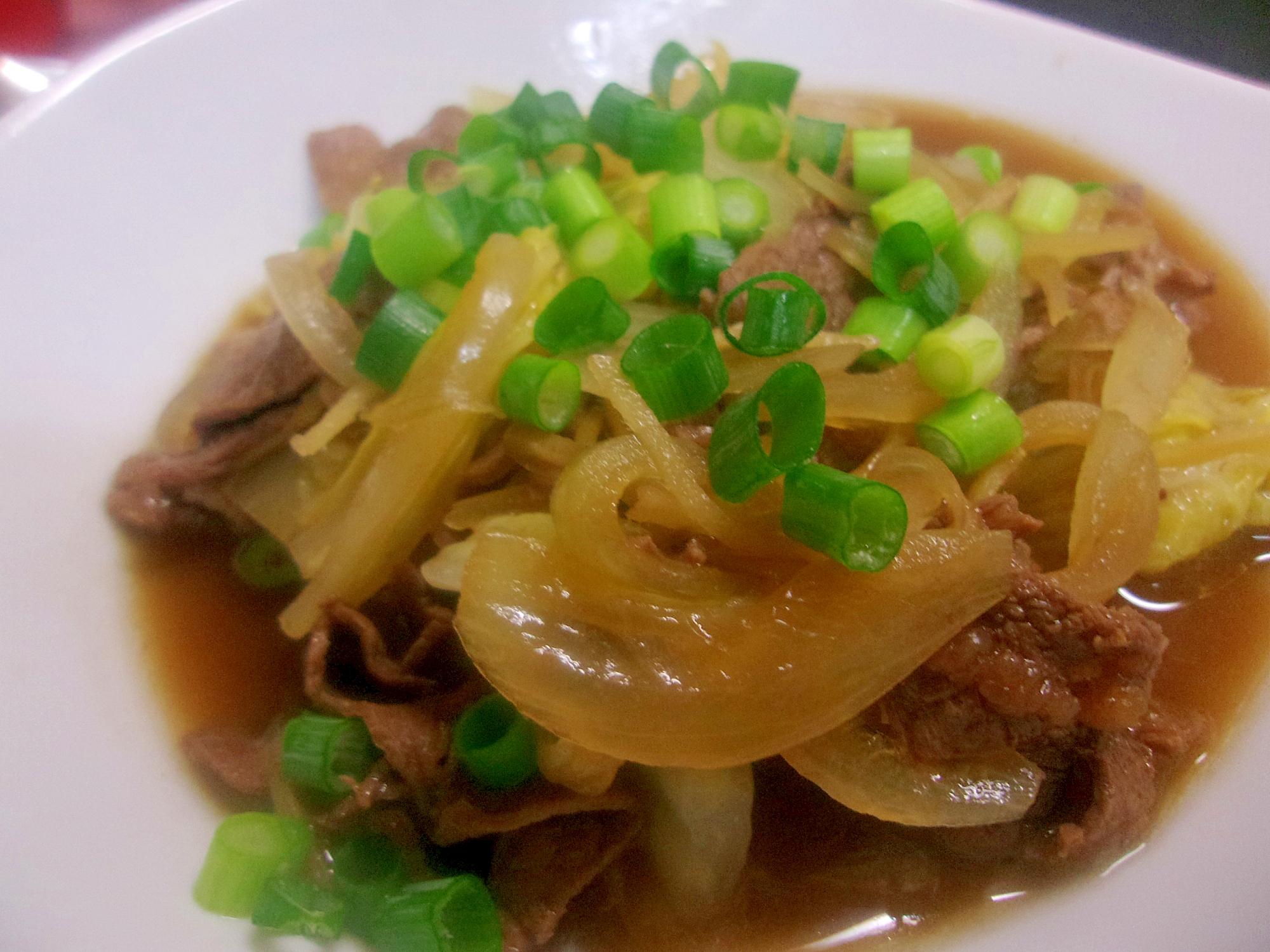 10. 牛肉と白菜の煮物