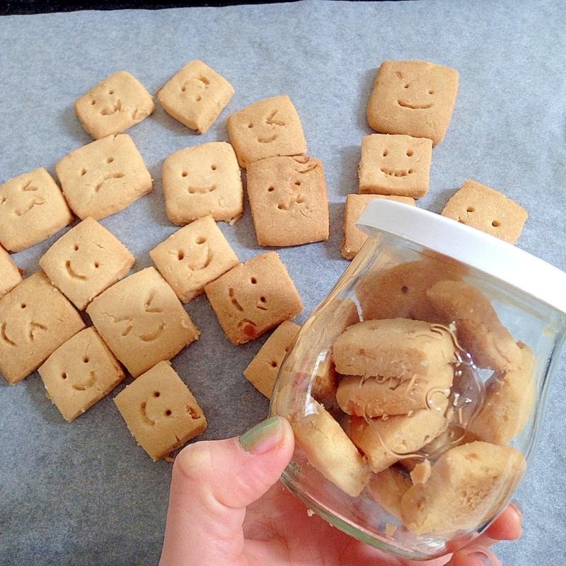 ジャーで一日置いてから!見た目もかわいい塩クッキー