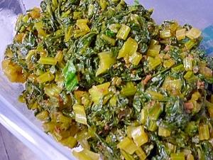 かぶの葉の常備菜