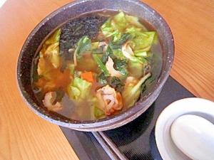 海苔竹輪野菜ラーメン