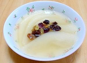 千両梨のジャスミンティー煮