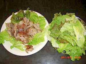 豚バラの塩焼き(韓国風)