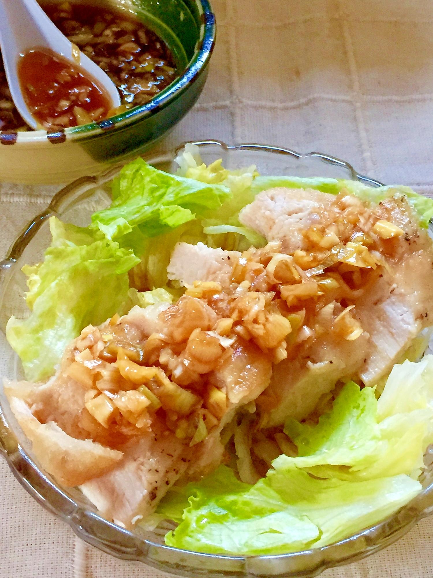 タレが絶品♡鶏むね肉で油淋鶏(ユーリンチー) レシピ・作り方 by みさきらりんず|楽天レシピ