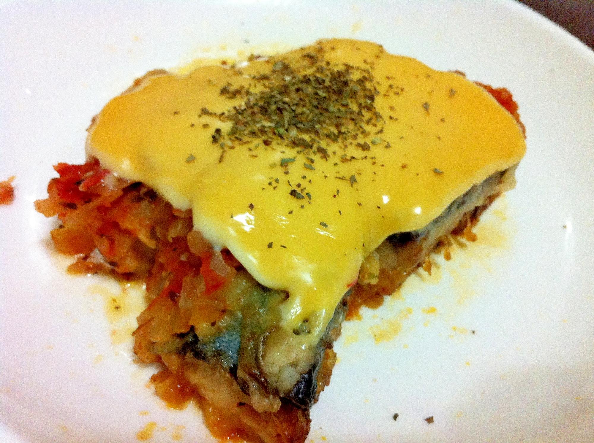 鯖のトマトチーズがけ
