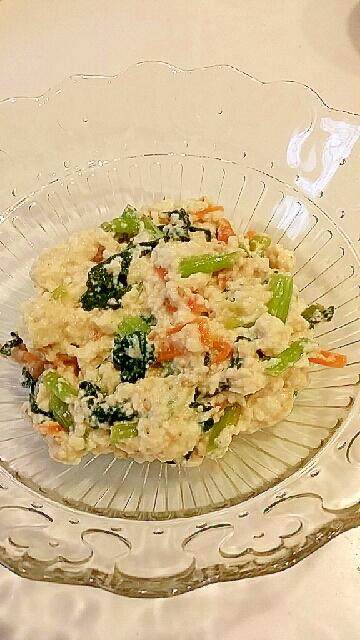 副菜に!めんつゆで簡単★小松菜の白あえ
