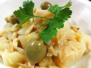 バッカラとジャガイモのオリーブサラダ