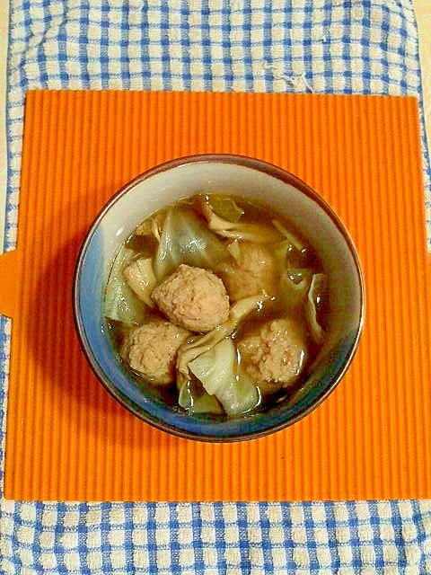 鶏団子スープ♪