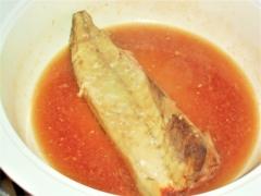 レンジで楽して鯖の味噌煮