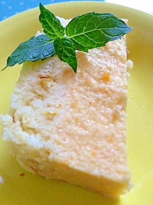 夏野菜スイーツ☆オレンジトマトdeチーズケーキ♪