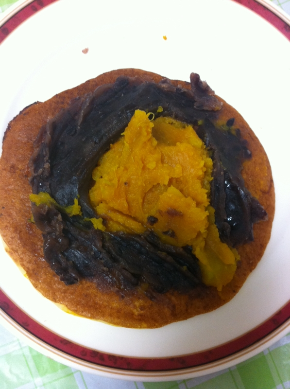 ★かぼちゃあんパンケーキ★