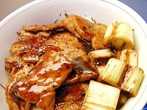 トウチ醤で葱ぶた丼